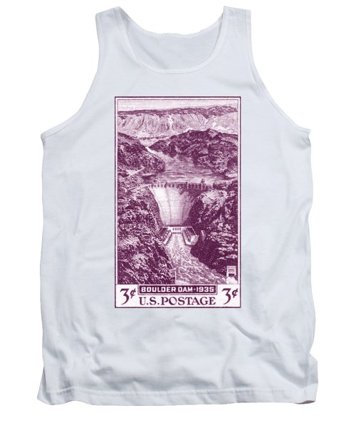 1935 Boulder Dam Stamp Tank Top