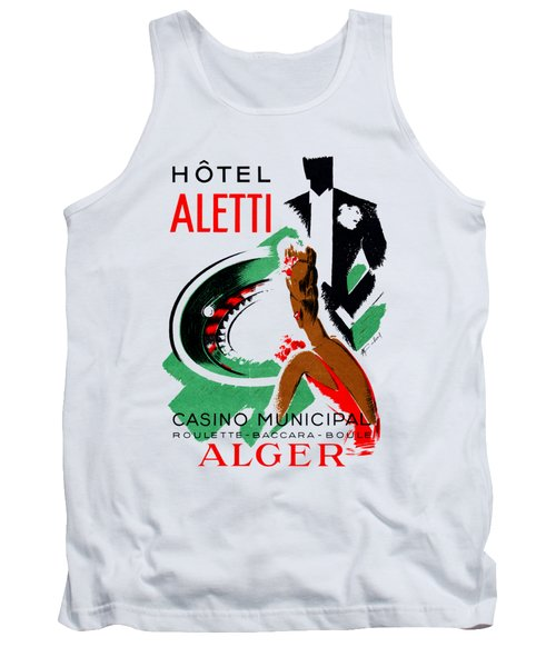 1935 Hotel Aletti Casino Algeria Tank Top by Historic Image