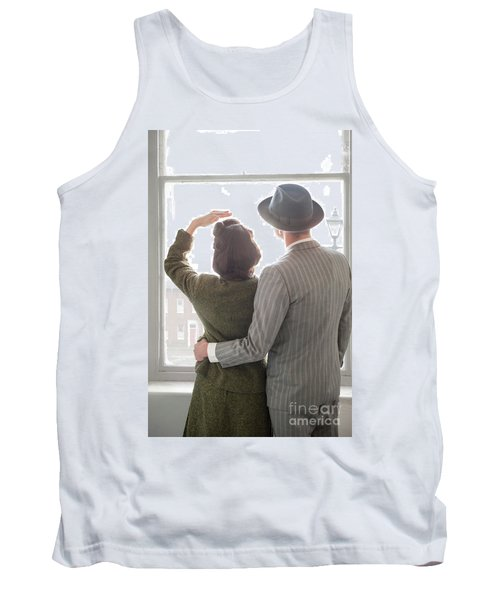 1940s Couple At The Window Tank Top by Lee Avison