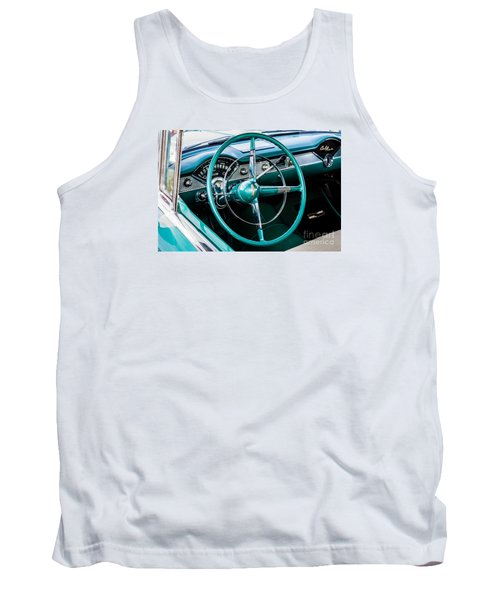 Tank Top featuring the photograph 1955 Chevrolet Bel Air by M G Whittingham