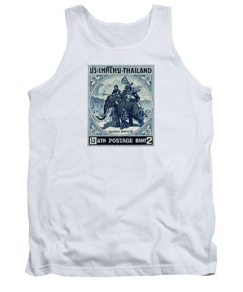 1955 Thailand War Elephant Stamp Tank Top by Historic Image
