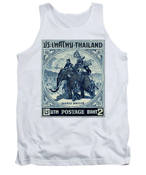 1955 Thailand War Elephant Stamp Tank Top