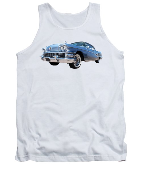1958 Buick Roadmaster 75 In A Blue Mood Tank Top