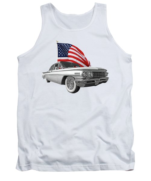 1960 Oldsmobile With Us Flag Tank Top