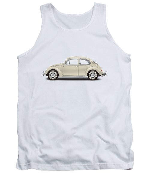 1965 Volkswagen 1200 Deluxe Sedan - Panama Beige Tank Top by Ed Jackson
