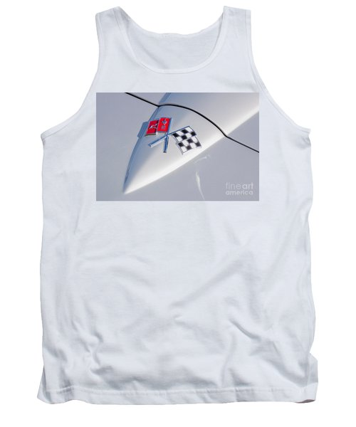 Tank Top featuring the photograph 1966 Corvette Hood Ornament  by Aloha Art
