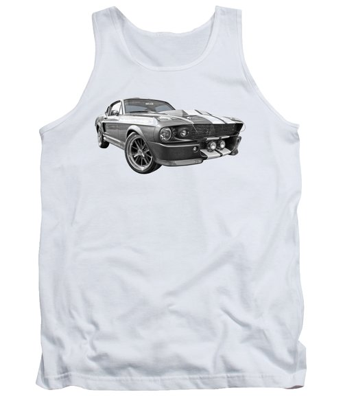1967 Eleanor Mustang In Black And White Tank Top by Gill Billington