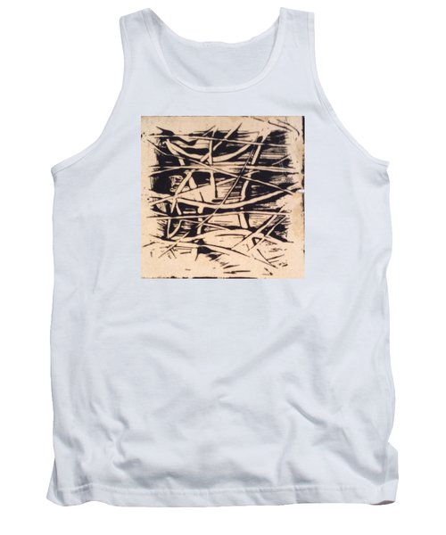 Tank Top featuring the painting 1967 by Erika Chamberlin