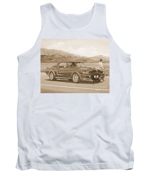 1967 Ford Mustang Fastback In Sepia Tank Top