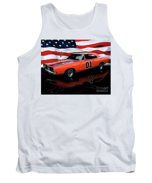Tank Top featuring the photograph 1969 General Lee by Peter Piatt