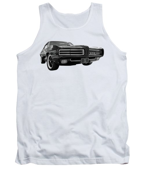 Tank Top featuring the photograph 1969 Pontiac Gto The Goat by Gill Billington