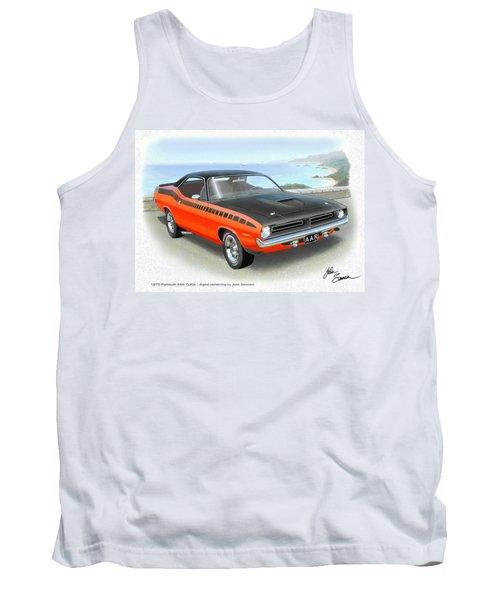 1970 Barracuda Aar  Cuda Classic Muscle Car Tank Top