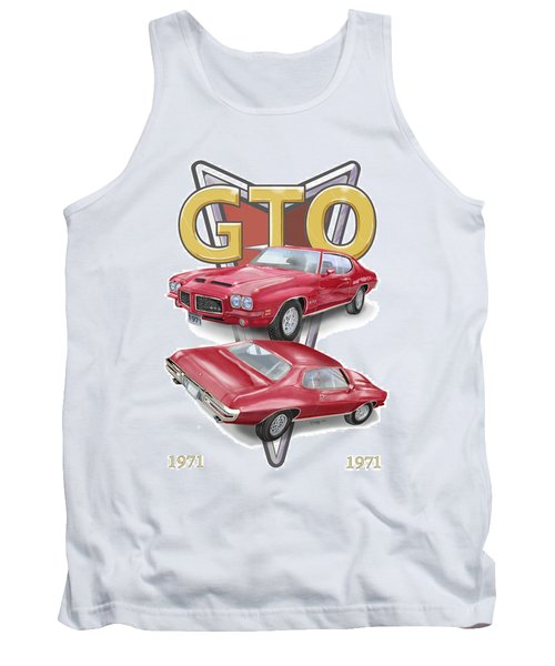 1971 Pontiac Gto Tank Top by Thomas J Herring