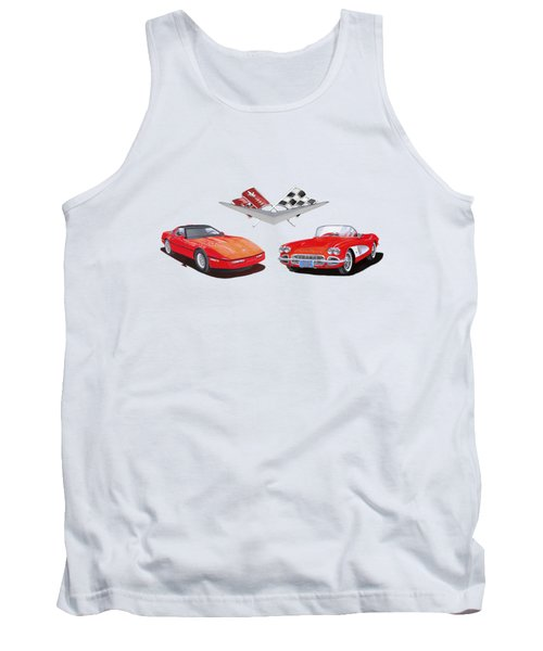 1986 And 1961 Corvettes Tank Top