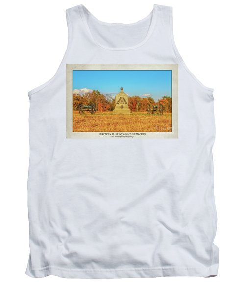 1st New York Battery D Gettysburg Poster Tank Top by Randy Steele
