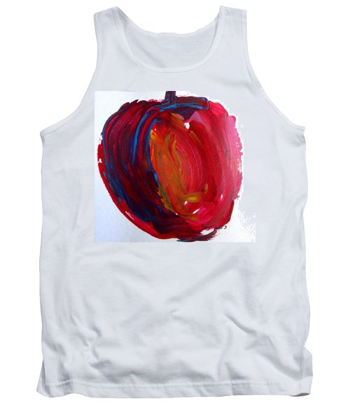 Tank Top featuring the painting Apple by Fred Wilson