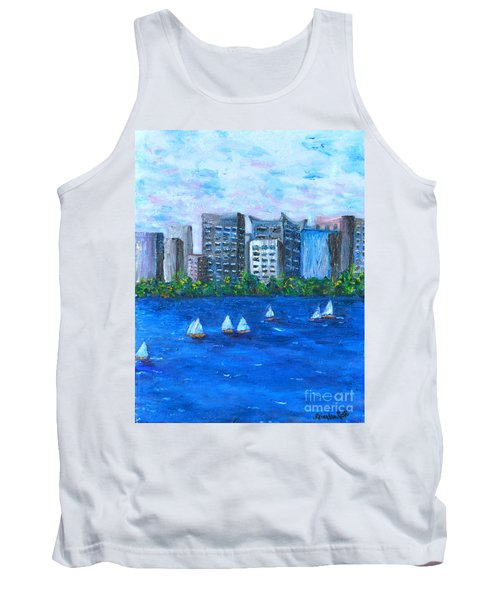 Tank Top featuring the painting Art Study by Reina Resto