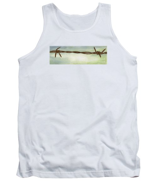 Tank Top featuring the painting Auschwitz by Annemeet Hasidi- van der Leij