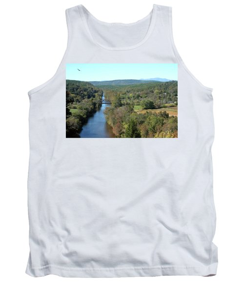 Autumn Landscape With Tye River In Nelson County, Virginia Tank Top by Emanuel Tanjala
