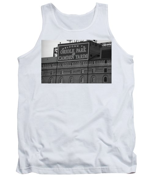 Baltimore Orioles Park At Camden Yards Bw Tank Top