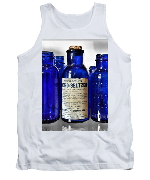 Bromo Seltzer Vintage Glass Bottles Collection Tank Top