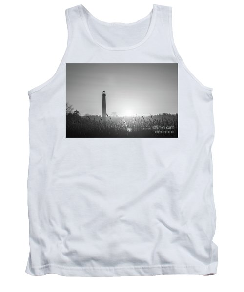 Cape May Lighthouse Sunset Bw Tank Top