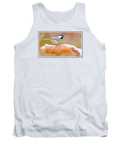 Tank Top featuring the photograph Carolina Chickadee On Tree Limb by A Gurmankin