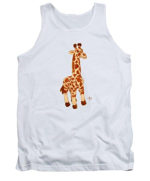 Cuddly Giraffe Tank Top by Angeles M Pomata
