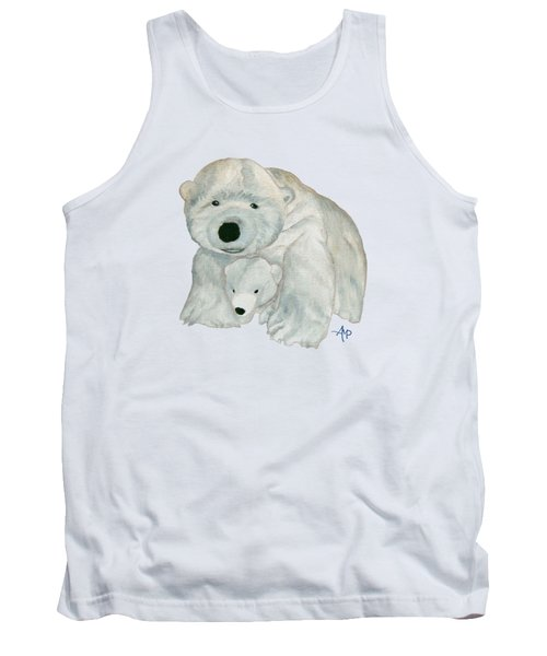 Cuddly Polar Bear Tank Top by Angeles M Pomata