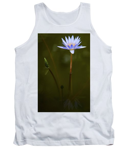 Deep Lily Reflection Tank Top