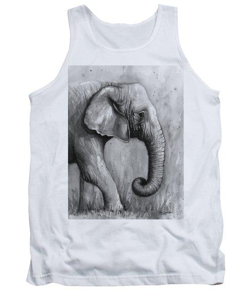 Elephant Watercolor Tank Top