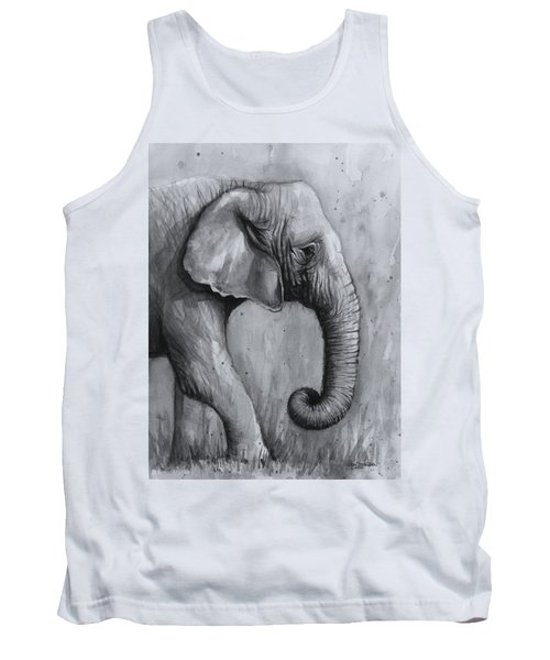 Elephant Watercolor Tank Top