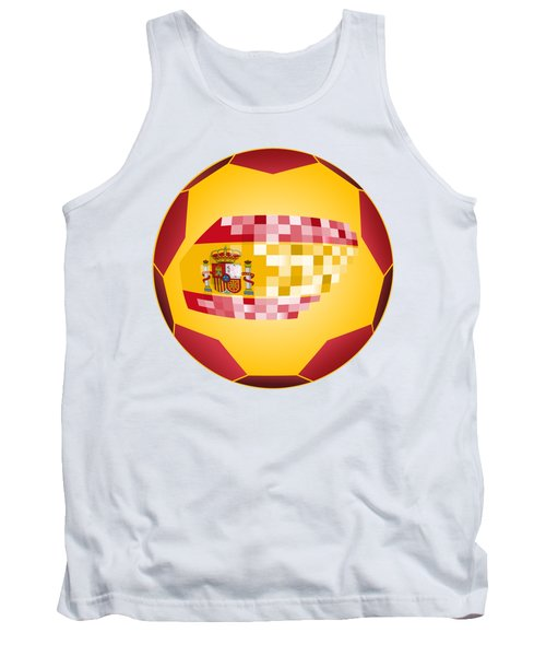 Football Ball With Spanish Flag Tank Top