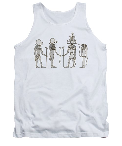Gods Of Ancient Egypt Tank Top by Michal Boubin