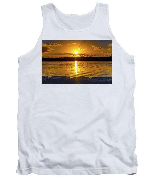 Golden Sunrise Waterscape Tank Top