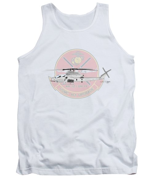 Tank Top featuring the digital art H-1 Upgrade by Arthur Eggers