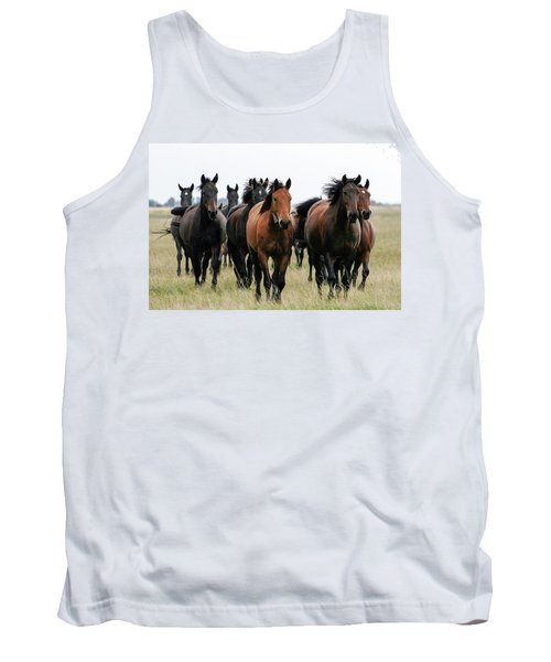 Horse Herd On The Hungarian Puszta Tank Top