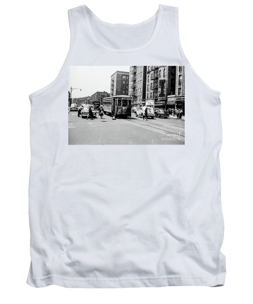 Tank Top featuring the photograph Inwood Trolley  by Cole Thompson
