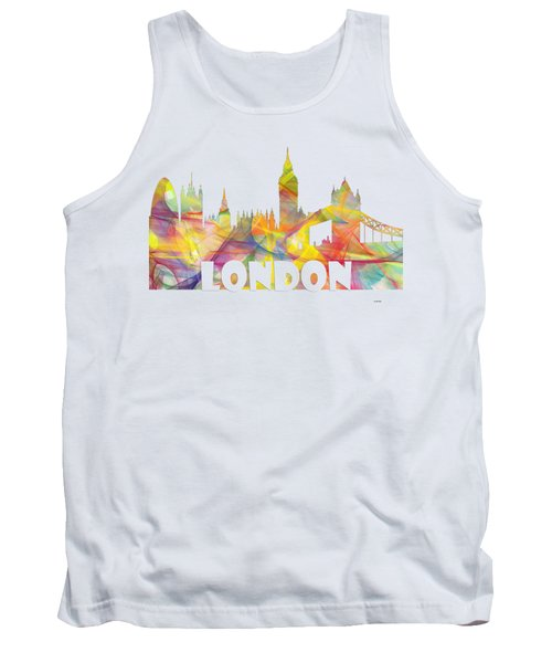 London England Skyline Tank Top