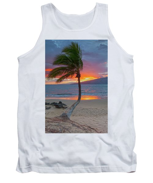 Lonely Palm Tank Top by James Roemmling