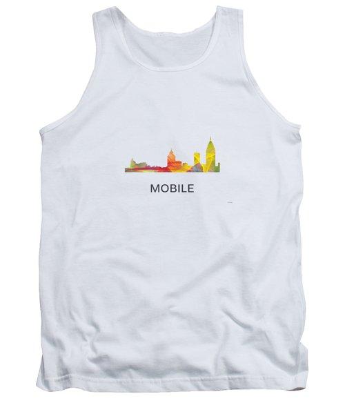 Mobile Alabama Skyline Tank Top by Marlene Watson