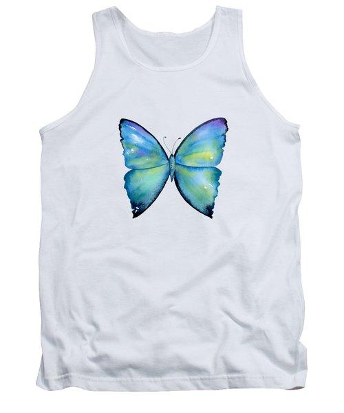2 Morpho Aega Butterfly Tank Top