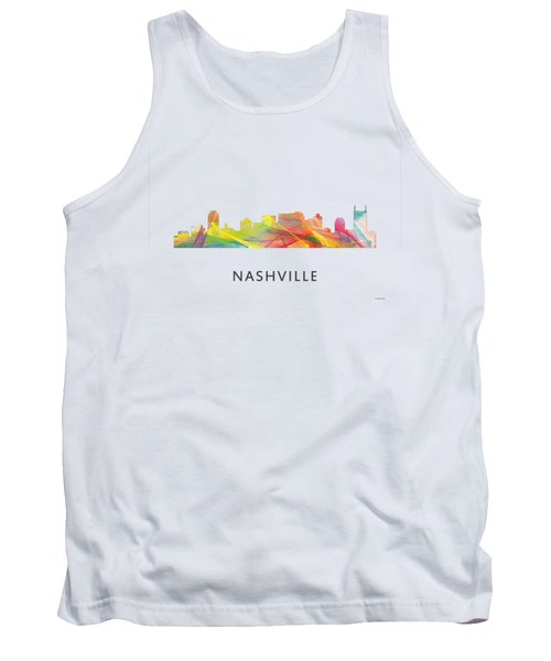 Nashville Tennessee Skyline Tank Top