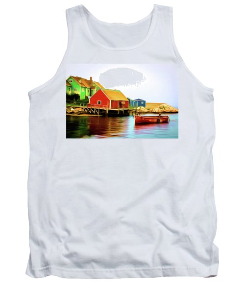 Peggy's Cove Tank Top by Andre Faubert