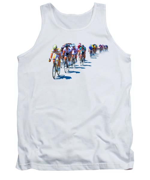 Tank Top featuring the photograph Philadelphia Bike Race by Bill Cannon