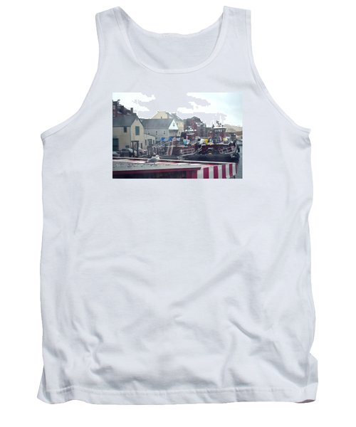 Nor' Easter At Portsmouth Tank Top by Richard Ortolano