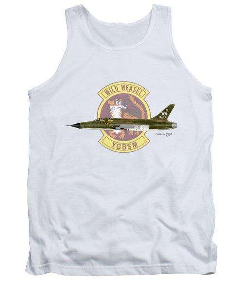 Tank Top featuring the digital art Republic F-105g Thunderchief 561tfs by Arthur Eggers