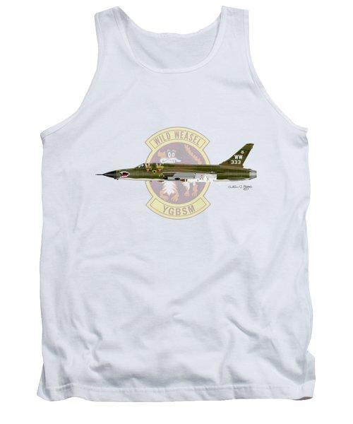 Republic F-105g Wild Weasel Tank Top by Arthur Eggers