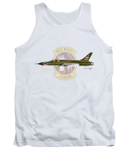 Republic F-105g Wild Weasel Tank Top