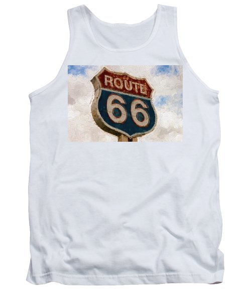 Route 66  Tank Top by Louis Ferreira